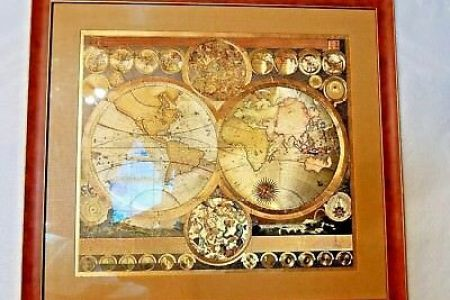 Gold foil world map framed path decorations pictures full path brayden studio gold foil world map framed graphic art print wayfair vintage blaeu wall map gold foil map of world framed excellent vintage blaeu wall map publicscrutiny Images