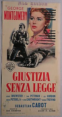 Poster JUSTICE WITHOUT LAW 1960 GEORGE MONTGOMERY SEBASTIAN CABOT