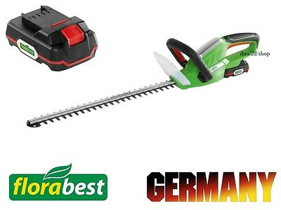 Florabest 20v Li Ion Battery 2 Ah Powerful Cordless Hedge Trimmer 520