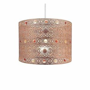 MOROCCAN STYLE PENDANT Shade Light Fitting Ceiling Lighting Metal     Copper Gem Moroccan Style Chandelier Ceiling Light Shade Fitting   Plastic Metal