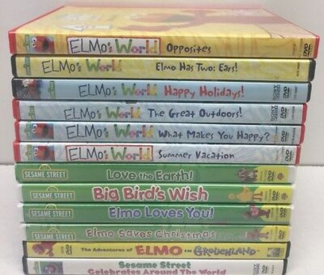 Lot Of 12 Sesame Street Dvds 123 Big Birds Wishelmos World Summer Vacation Ear