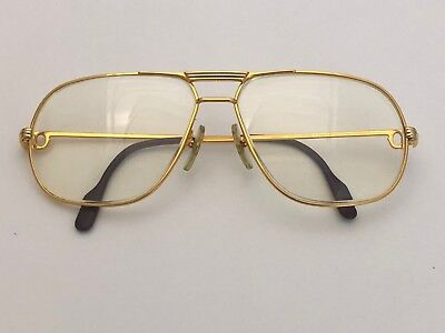 f9f0f10945d Vintage Cartier Tank L C Eyeglass Frame Gold Men S Large 62 14
