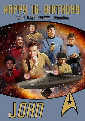 Personalised Birthday Card Star Trek Any Name Age Relation 2 95 Picclick Uk