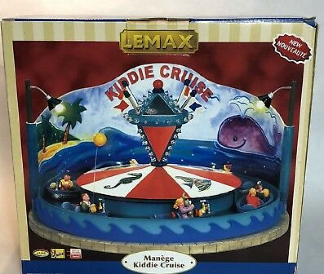 Lemax Kiddie Cruise Village Winter Carnival Collection Amusement Ride 64490