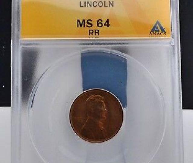 1909 1c Lincoln Wheat Cent Anacs Ms  Day Auction 99c Start No