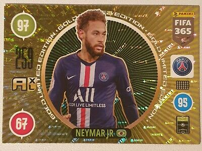 Neymar Jr. Golden Limited Edition Paris Adrenalyn XL 2021 Fifa 365