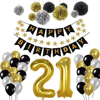 21st Birthday Decorations Birthday Party Decorations Sets For Men Boy Diy Use Eur 15 37 Picclick Fr