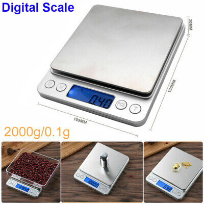 Mini Precision Electronic Balance Weighs Jewelry Digital Scale Deco 0.1g-2000g