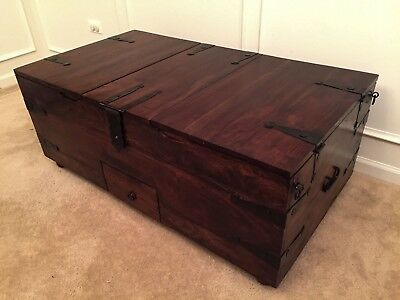 crate and barrel storage coffee table