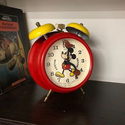 Disney Mickey Mouse Alarm Clock Vintage