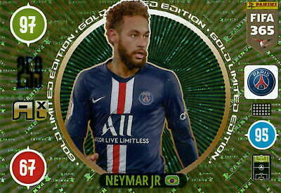 Panini Adrenalyn XL FIFA 365 2021 Gold Limited Edition Neymar Jr.