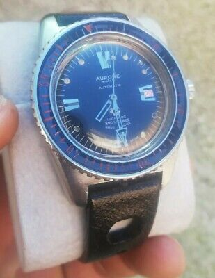 Vintage Diving Watch AURORE 300M SUB MARINE crown Vise