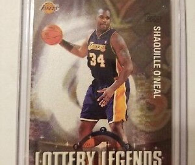 2001 Topps Shaquille Oneal Lottery Legends Ll1 Los Angeles Lakers Shaq