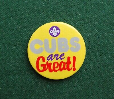 Cubs Are Great Pin Badge - Retro Vintage - Boy Scouts