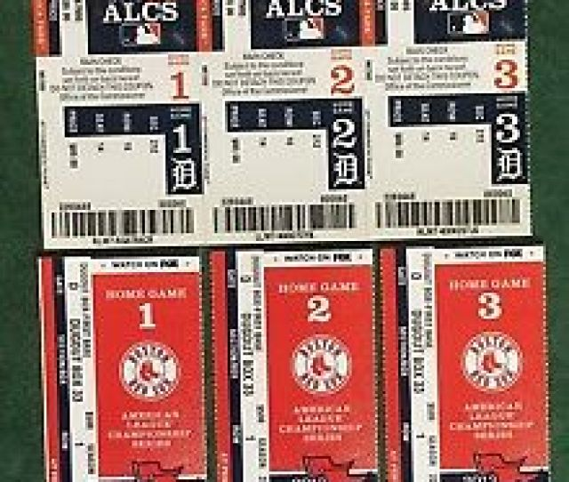 Alcs Red Sox Vs Tigers Complete Set All  Game Tickets Nm Mt Or
