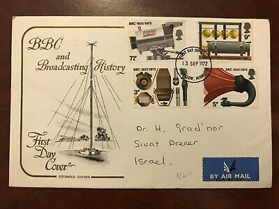 1972 GB Great Britain BBC & Broadcasting History First Day Cover