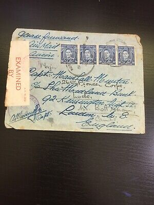 Australia Cover 1942 GVI 3d Blue to England WW11 Censor