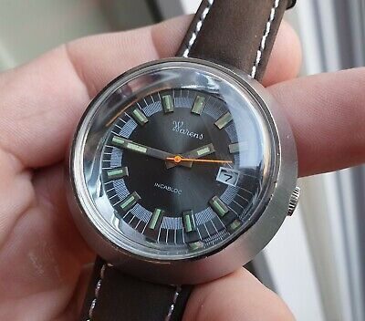* Exceptional * Old Rare Vintage French Diver Mechanical Ufo Diving Watch