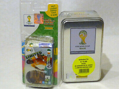 Panini Adrenalyn XL World Cup 2014 Brazil TIN can + special blister limited Drogba