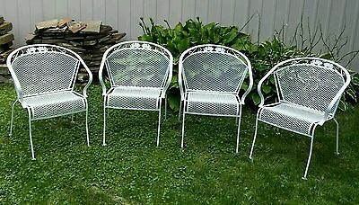 4 vintage meadowcraft wrought iron