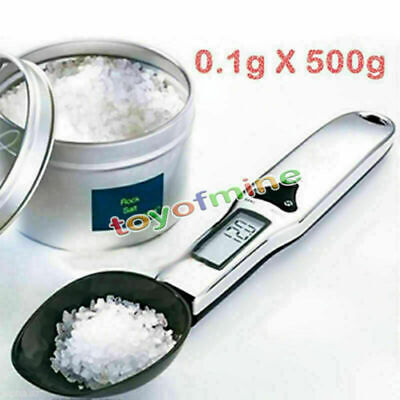 500g / 0.1g Kitchen Scale Spoon Digital Electronic Precision LCD Weigh Spoon