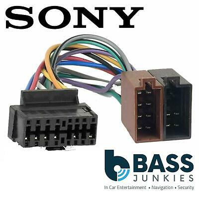 sony xrca370x car radio stereo 16 pin wiring harness loom