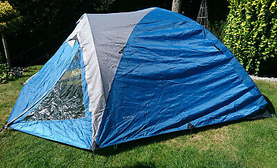 Dome tent Fritz Berger Kiwi Super 4 blue, gray with anteroom
