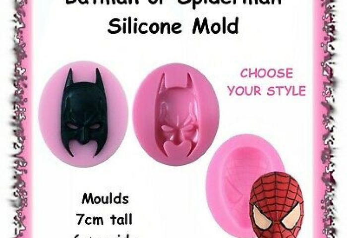 Superhero Fondant And Cookie Cutters Silicone Mould Mini Figures