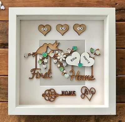 Handmade Personalised 3d First Home New Home Frame Keepsake House Warming Gift 22 00 Picclick Uk