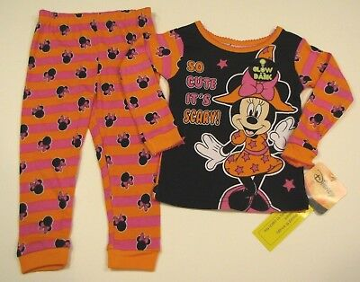 disney minnie mouse halloween pajamas size 2t 3t 4t 5t new 18 99