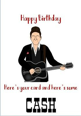Kitchen Dining Bar Personalised Johnny Cash Icing Cake Topper Round Easy Pre Cut 8 20cm Home Garden