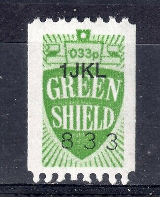 GB = `GREEN SHIELD` 1 Unit Savings Stamp. COIL issue. MNH. Not now given.