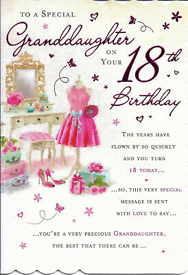 Granddaughter 18th Happy Birthday Greeting Card 9 By 6 Free P P 2 89 Picclick Uk