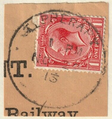 GB Used in Ireland KGV 1d TIPPERARY skeleton postmark on neat piece 1913