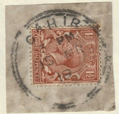 GB Used in Ireland KGV 1½d brown CAHIR double ring postmark neat piece 1919