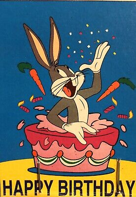 Looney Tunes Bugs Bunny Happy Birthday Cake Party Celebration Large Yard Flag N 14 87 Picclick