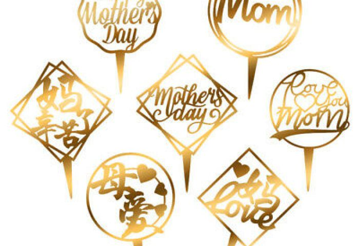 Acrylic Cake Topper Insert Card Father Mothers Day Love Cake Decor