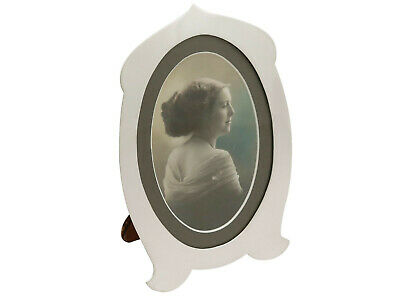 Antique Hallmarked Sterling Silver Photo Frame by Henry Matthews Height 17.9cm