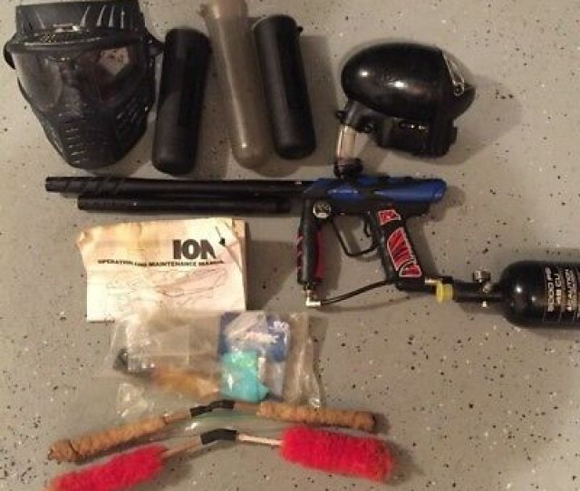 Smart Parts Ion Pro Paintball Marker And Accessories