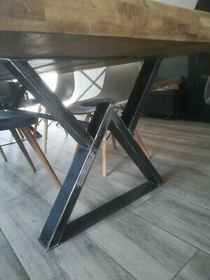 pieds de table industriel type w excellente qualite made in france