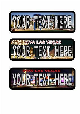 personalized Las Vegas American style license plates