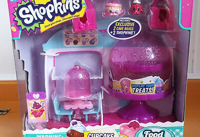 Shopkins Food Fair Cupcake Queen Cafe Exclusive Cake Boxes Display