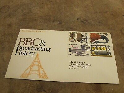 1972 GB First Day Cover - BBC / Broadcasting - Radio Tower / Mast frank