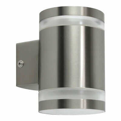 Ranex Stainless Steel Outdoor Wall Light IP44 2x 9W GX53 300lm Warm White