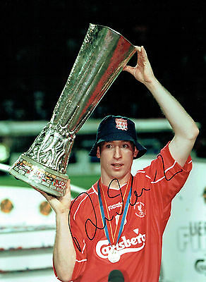 Robbie FOWLER Signed Autograph 16x12 LIVERPOOL UEFA Cup Photo AFTAL COA
