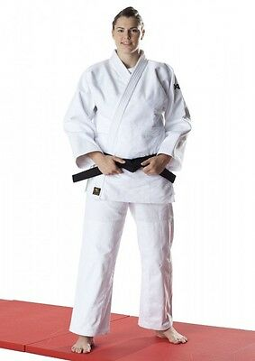 Dax Sports JUDO SUIT, Tori Gold, White.  130-200cm.  Judo Gi, certified judo competitions