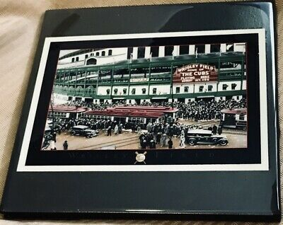 Vintage Wrigley Field: Home of the Chicago Cubs Baseball Ceramic Tile i