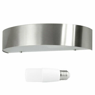 Ranex LED Outdoor Wall Lamp Leeds Matte Nickel IP44 10W = 75W E27 Tubes