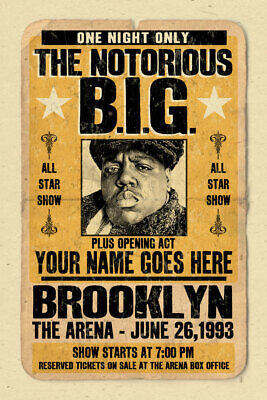 your name on a notorious b i g concert