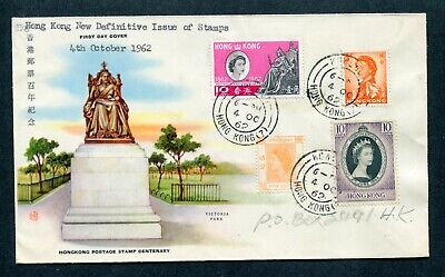 04.10.1962 Hong Kong Definitive 5c stamp on C.P.A. illust. FDC First Day Cover